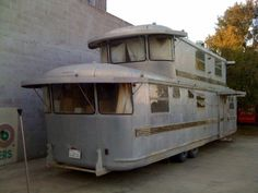 1953 Spartan Imperial Mansion with 2nd story add-on. As seen on Tin Can Tourist's FB page. A real beauty!!