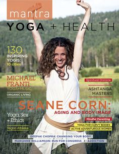 "elena brower wears #hydeyoga beautifully (as always) - find her article ""on respect as our practice"" on pages 14-15 in the new mantra #yoga & #health magazine!"