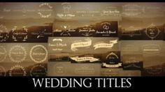 44 Wedding Titles Lower Third 애프터 이펙트 프로젝트