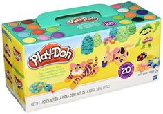 Christmas Kids Gift Play-Doh Super Color Classic Toy 20-Pack 60 oz New #PlayDoh