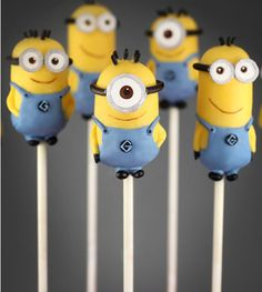 This is adorable! Minion cake pops <3