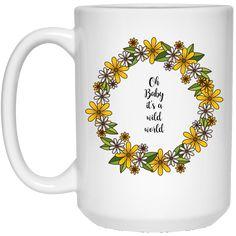 It's a wild world White Mug – Gyllen Lotus
