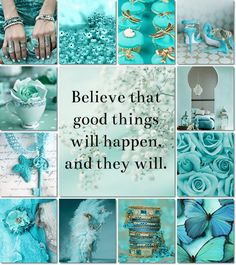 moodboard by AT Tiffany Blue, Mood Colors, Colours, Calming Colors, Collages, Toile Photo, Aqua, Teal, Magenta