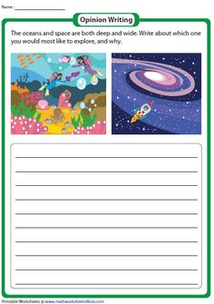 Navigate through these opinion or persuasive writing prompt printable worksheets for kids of grade 1 through grade 5 and state your opinions and reasons. Persuasive Writing Prompts, Writing Prompts For Kids, Writing Process, Kids Writing, Creative Writing, English Class, English Lessons, Work Exercises, Picture Comprehension