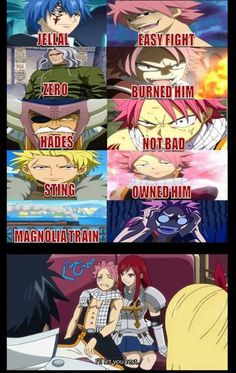 Poor Natsu........ The train is cheating XD