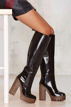Stiù Cindy Knee-High Platform Boot