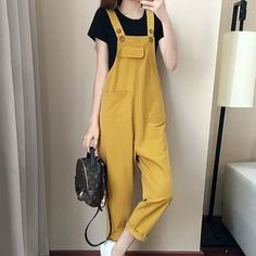 litesense - Set: Jumper Pants + Short-Sleeve T-Shirt Hijab Fashion, Korean Fashion, Girl Fashion, Fashion Dresses, Womens Fashion, Fashion Design, Grunge Outfits, Trendy Outfits, Cute Outfits