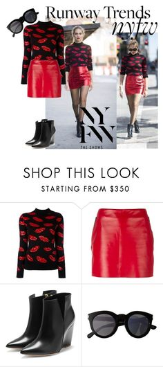 """""""NYFW Runway Street Look"""" by starrybell ❤ liked on Polyvore featuring Yves Saint Laurent, Barbara Bui, Rupert Sanderson, NYFW, runway and YSL"""