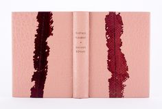 Madame Bovary by Gustave Flaubert bound by Sonya Sheats // bound in buffalo with onlays of salmon skin