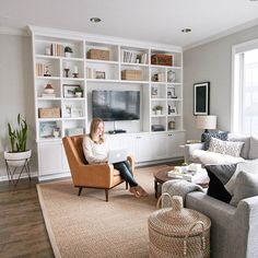 Even if your lease ends in 6 months, there's still no excuse to live in a space you don't love. Here's how to decorate a rental to make it feel like home. center repurpose bedroom How to Decorate A Rental Apartment Living Room Modern, Small Living, Living Room Designs, Living Room Shelves, Living Room Tv, Living Room No Fireplace, Wall Cabinets Living Room, Apartment Living, Small Room Design