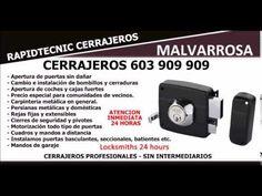 CERRAJEROS PLAYA MALVARROSA VALENCIA 603 909 909