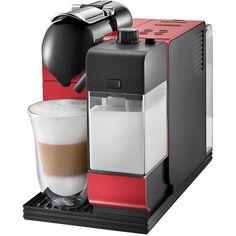 Delonghi Lattissima Plus Espresso Maker ($560) ❤ liked on Polyvore featuring tops, red and delonghi