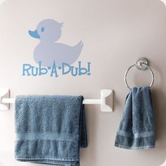 Rub A Dub! Make bath time fun time with this cute rubber ducky decal that adds more life to. Bathroom Wall Decals, Kids Bath, Fun Time, Wall Quotes, Bath Time, Doll Houses, Plastic Canvas, Word Art, Editor