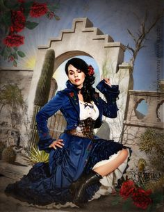 Ravenna Old West New West, Victorian Steampunk, Ravenna, Wild West, Costume Design, Old And New, Disney Characters, Fictional Characters, Snow White