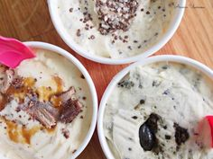 Kotitekoisia kermajäätelöitä makuina turkinpippuri, marianne ja nougat   Annin Uunissa Homemade Ice Cream, Ice Cream Recipes, Mashed Potatoes, Oatmeal, Deserts, Keto, Pudding, Candy, Baking