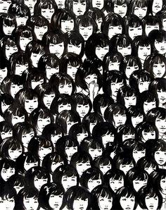giclée prints of illustrations by Jennifer Hom. Photomontage, Textile Patterns, Print Patterns, Textiles, Cool Patterns, Foto Art, Art Graphique, Pattern Illustration, Art Plastique