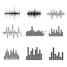 vector sound wave: Sound Wave Icon Set. Music soundwave icons set. Equalize audio and stereo sound, wave, melody. Vector illustration. Illustration
