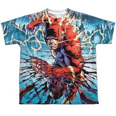 Flash: Ripping And Tearing Sublimated Youth T-Shirt