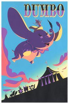 Dumbo by Alan Bodner – Cyclops Print Works Disney Quiz, Disney Films, Disney Pixar, Walt Disney, Vintage Cartoon, Vintage Disney, Norman, Nightmare Before Christmas Drawings, Jackson