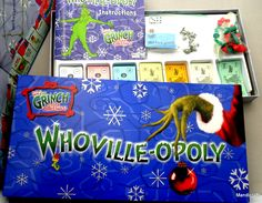 The Grinch Who Stole Christmas Monopoly board game WHO-VILLE OPOLY Ebay Score