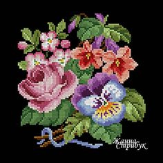 Code 100121 The size of the scheme is 90x90 stitches. A palette of 35 colors in DMC. The scheme uses only one type of stitch - a full cross. The scheme is suitable for embroidery with beads and petit point. The background for this embroidery will suit anyone but white. Price 4$