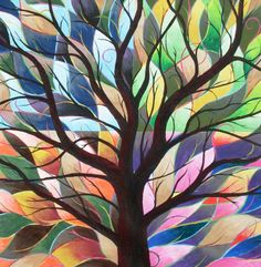 Four Seasons Painting by Sally Van Driest - Four Seasons Fine Art Prints and Posters for Sale Four Seasons Painting, Four Seasons Art, Abstract Pictures, Collaborative Art, Tree Art, Amazing Art, Art Drawings, Art Projects, Fine Art Prints
