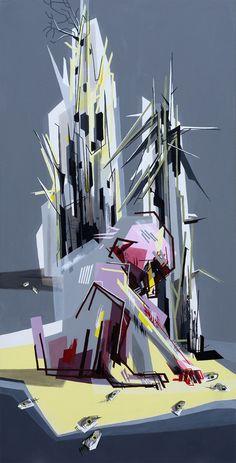 """Johanna Creutzburg; Acrylic, 2012, Painting """"Viel Versinken"""""""