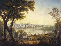 St. Louis in 1846 by Henry Lewis. Currently at the St. Louis Art Museum