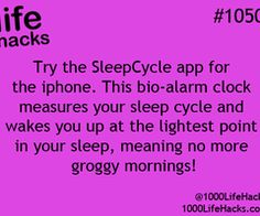 Improve your life one hack at a time. 1000 Life Hacks, DIYs, tips, tricks and More. Start living life to the fullest! 100 Life Hacks, Simple Life Hacks, Useful Life Hacks, Life Tips, Lifehacks, Sleep Phases, Iphone Hacks, Iphone App, The More You Know