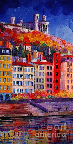 Colorful Facades On The Banks Of Saone - Lyon France