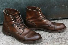 Fade of the Day - Red Wing 8111 Iron Ranger Years) Red Wing Iron Ranger, Iron Ranger 8111, Red Wing Boots, Best Shoes For Men, Men S Shoes, Red Wing 8111, Leather Men, Leather Boots, Mens Boots Fashion