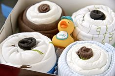 Diaper Cupcakes Baby Shower Gift Baby Boy