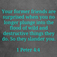 1 Peter 4:4