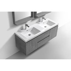 "Orren Ellis Lina 59"" Double Bathroom Vanity Set & Reviews 