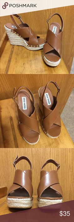 (Easter) Steve Madden Wedges! WORN ONCE! Perfect condition. Open to offers :) Steve Madden Shoes Wedges