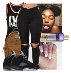 """"""""""" by kodakdej ❤ liked on Polyvore featuring Ivy Park, Victoria's Secret, MCM and NIKE"""