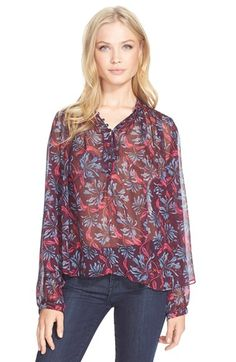 Rebecca Taylor 'Mystic' Silk Chiffon Top available at #Nordstrom