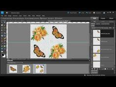 Photoshop Elements: Make a Diagonal Pattern from Clipart - YouTube