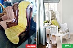 Nu mai arunca mobila veche – Iată cum o poți refolosi Gaming Chair, Wingback Chair, Accent Chairs, Lounge, Couch, Interior, Furniture, Design, Home Decor