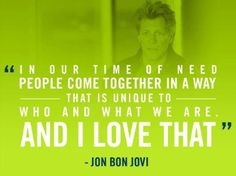 How can you not love Jon Bon Jovi?