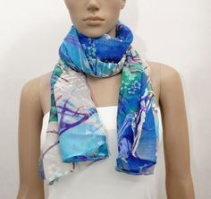 Product description A casual blue velvet textured scarf with an abstract print  Size/Dimensions/Weight length- 69 inch width - 17 inch  Materials utilised Georgette velvet textured print  Production method sewn, Handmade  All Items are Shipped by REGISTERED PARCEL. It takes around 15 to 20 days. Please contact us if you require faster Shipping options, you can select from any of the following: --- Speed Shipping :- It takes around 8 to 12 days --- --- Express Shipping :- It takes ar...