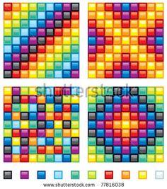 Colourful mosaic patterns