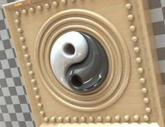 Yin and Yang Art - STL, STEP / IGES, SOLIDWORKS - 3D CAD model - GrabCAD