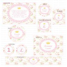 Kits digitais Charme Papeteria - Princesa Floral
