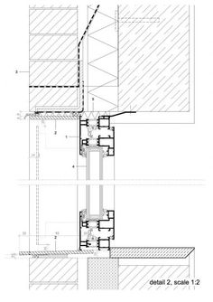 Stamp Window - DMOA architects Detail Architecture, Window Detail, Brick Facade, Detailed Drawings, Architectural Drawings, Ceiling Design, Facades, Home Interior Design, Construction