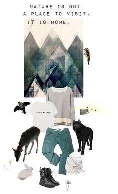 """home"" by ann4-kar1na ❤ liked on Polyvore featuring MANGO, Maje, Yoki, Giuseppe Zanotti and stripedshirt"