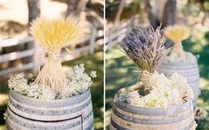 Soft and so simple - wheat & lavender bouquets
