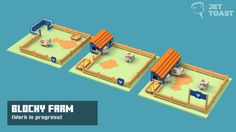 Blocky Farm - a voxel mobile farm manager