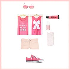 On Wednesdays We Wear Pink by smith-emily-1 on Polyvore featuring MANGO, Converse, Topshop, Essie and Pink