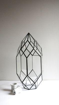 Geometric Terrarium / Stained glass terrarium / от ExpatDesignShop